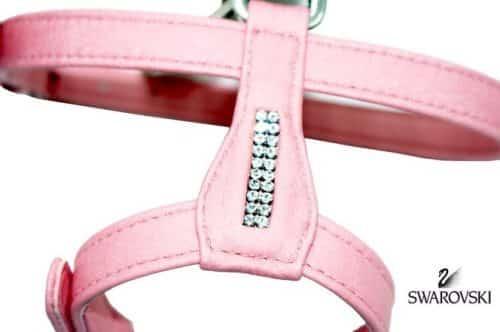 Harnais rose avec incrustations de cristaux Swarovski