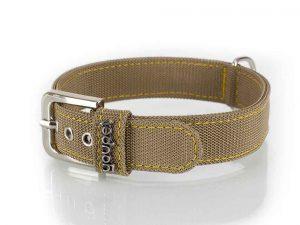 Collier chien nylon boucle metal