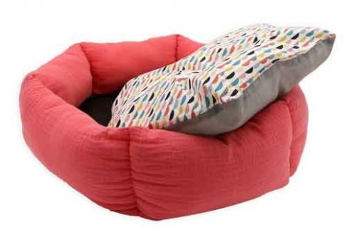 Coussin rond pour chat