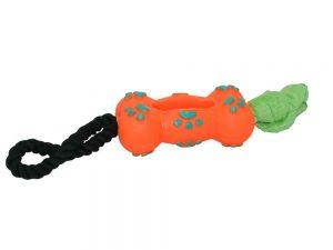 Jouet a marcher orange pour chien