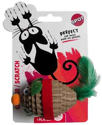Jouet souris carton pour chat
