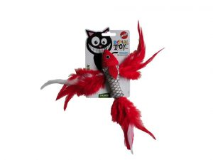 Jouet chat poisson rouge
