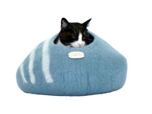 Couchage pour chat en laine