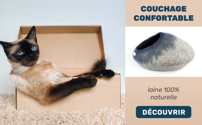 Couchages confortables pour chat - 100% laine naturelle