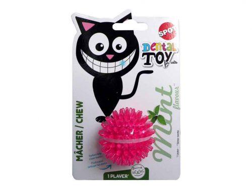 Balle souple pour chat parfumé à la menthe.