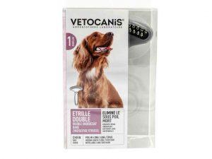 Brosse de toilettage étrille double VETOCANIS pour chien