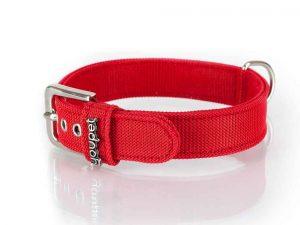 Collier rouge en nylon pour chien