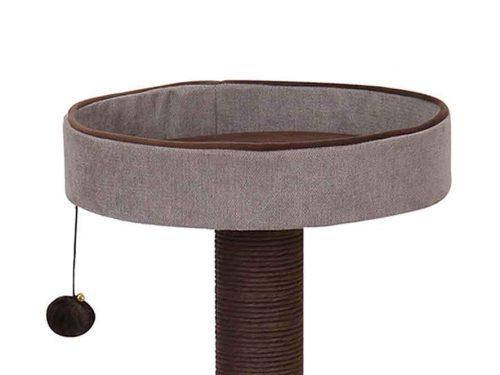 Griffoir pour chat avec un haut panier et jouet