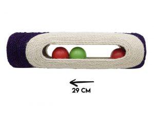 Griffoir en forme de tube violet