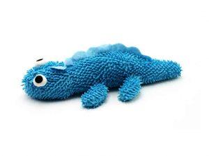 jouet peluche Lizzy bleu pour chien.