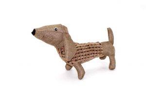 Jouet peluche pour chien en forme de teckel