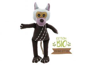 jouet peluche pour chien en forme de singe. coton BIO