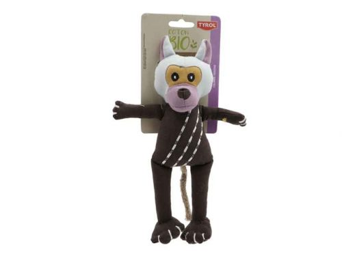 Jouet coton BIO pour chien en forme de singe.
