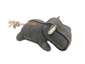Emmy jouet pour chien durable en forme d'hippopotame.