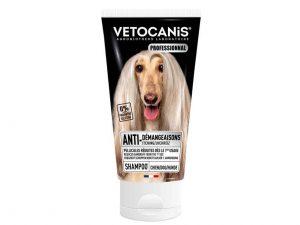 shampoing anti-démangeaison pour chien peau sensible.