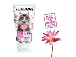 Shampoing pour chat à la Fleur de Lotus sans parabène et sans silicone.