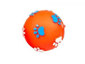 Balle de friandises orange en vinyle de duvoplus