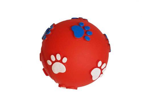balle de friandises pour chien rouge en vinyle de duvoplus
