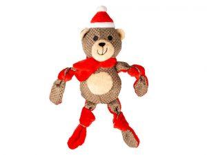 Peluche ours de Noël pour chien