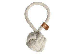 jouet pour chien balle avec corde